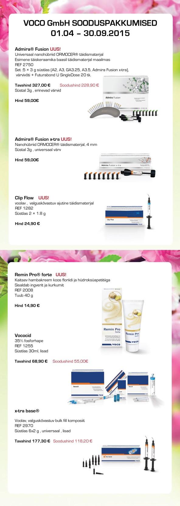VOCO GmbH sooduspakkumised 01.04-30.09.15
