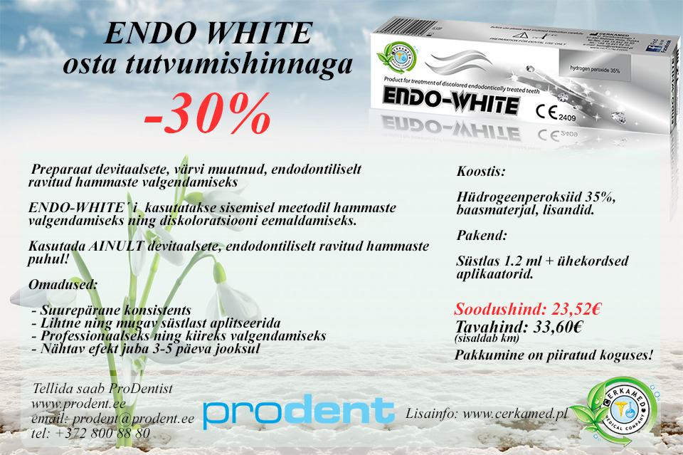 Soeta ENDO-WHITE soodsama hinnaga!