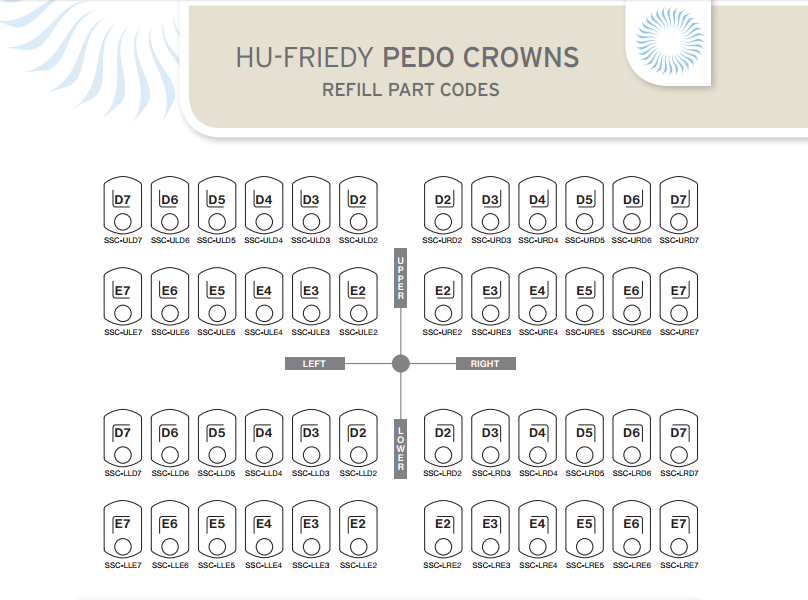 HU-FRIEDY PEDO CROWNS
