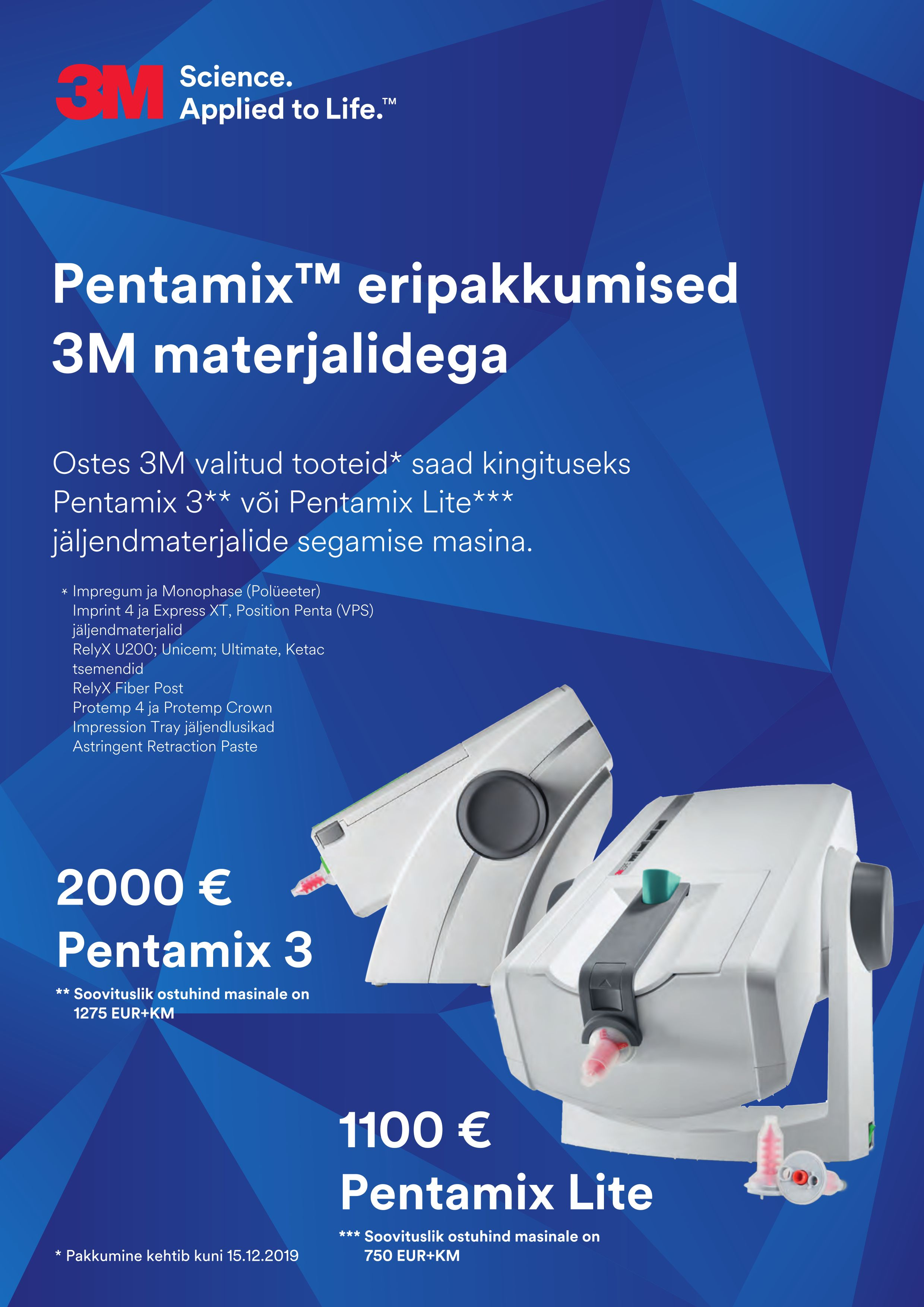 6d975dc9c36 Pentamix eripakkumised 3M materjalidega. Prodent OÜ